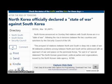 """North Korea officially declared a """"state of war"""" against South Korea"""
