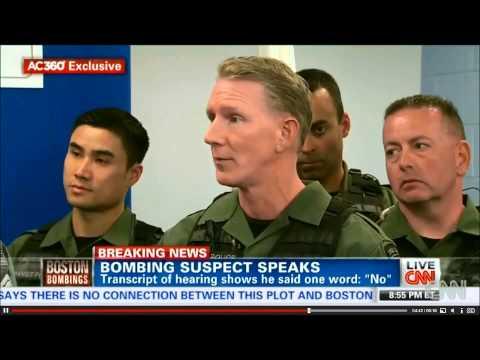 Boston SWAT team describes Dzhokhar Tsarnaev throat wound as a knife cut.