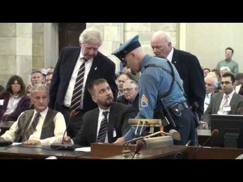 BREAKING: Second Amendment activist James Kaleda forcefully removed from new gun control bill hearing in NJ