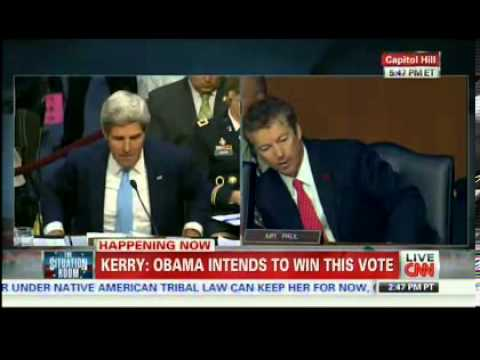 "HEATED: Rand Paul Storms John Kerry, Gets ""Owned"" at Syria Military Action Hearing - 9/3/2013"