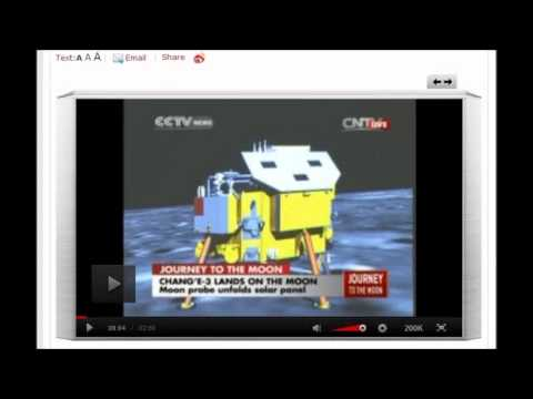 China unmanned spacecraft lands on the Moon. December 14, 2013