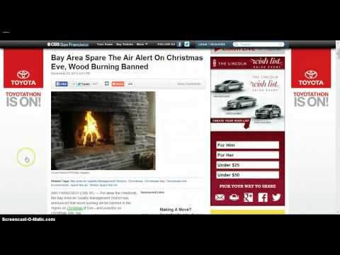 Agenda 21 Christmas, Red Rain TX, CA Bans Wood Burning 12/256/2013