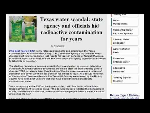 Texas EPA Cover up Oil Gas Production Fracking Releases Dangerous Levels Of Radiation In Water