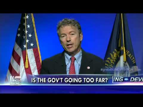 Rand Paul on NV rancher uproar, gov't out of control   Fox News Video