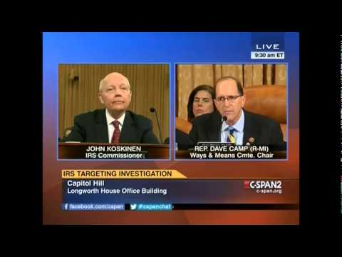 Dave Camp vs Irs Commissioner HEATED EXCHANGE. 'Let Me Finish'. Dave Camp vs John Koskinen