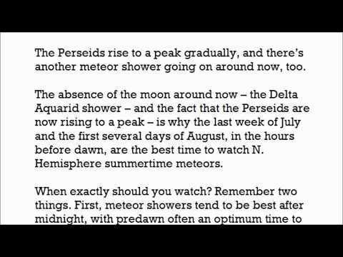Meteors this weekend and in coming weeks: Perseids and Delta Aquarid