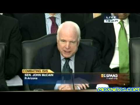 Protester Interrupts John McCain Insisting We Must Have Full On War In Syria