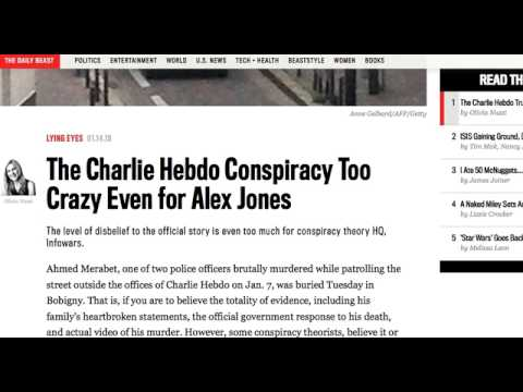 "The Daily Beast Slams FRR + ""Charlie Hebdo"" Truthers - Alex Jones + PJW AGREE!"