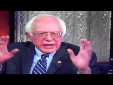 Bernie Sanders Zionist Jew Dual Citizen On Colbert