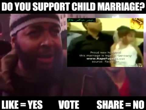 DO YOU SUPPORT CHILD MARRIAGE IN AMERICA???