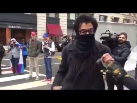 Fat Pig ANTIFA (female?) Punches Guy Trying To Go To Work - DUDE PUNCHES BACK!