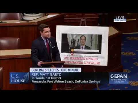 Gaetz continues merciless trolling of Adam Schiff on the House floor...now with a spicy new sign!
