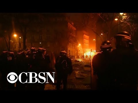 Violent protests erupt in Paris; dozens injured