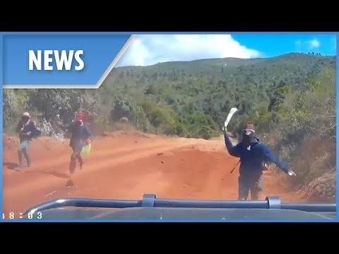 US couple narrowly escape gang of machete-wielding bandits