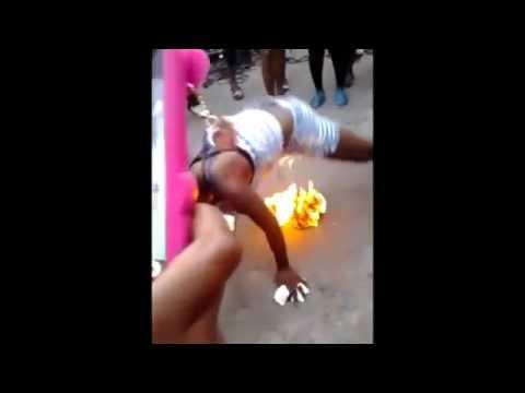 Too Crazy: Jamaican Girls Dance On A Fire! 2015