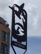 Hackbridge village sign