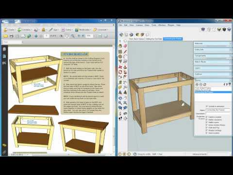 Kreg Workbench, Sketchup Video 5, Adding Scenes