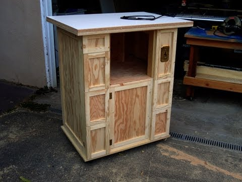Build a router table cabinet.
