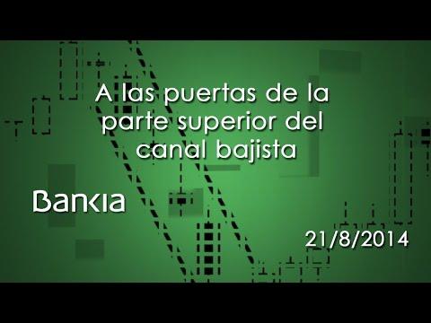Vídeo análisis técnico Bankia, cerca de la parte inferior del canal bajista 21-08-14