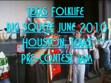 Texas Folklife Accordion pre contest jam 2010