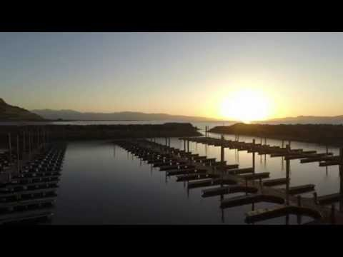Great Salt Lake Marina Sunset