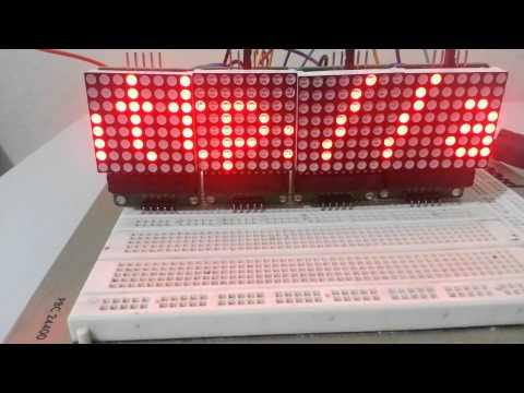 Arduino LED dot Matrix MAX7219