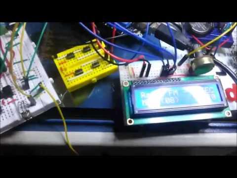 Radio FM - TEA5767 - Amplificador - VuMeter e LCD - Parte 5
