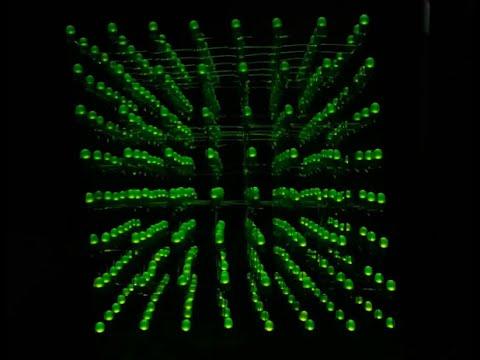 Cubo de Leds 8x8x8 - Programação e Demonstração