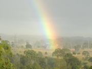 Rainbow  - view from our garden