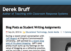 Teaching With Clickers by Derek Bruff