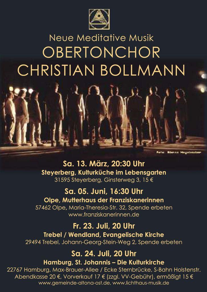 Konzerte mit dem Obertonchor Christian Bollmann 2010