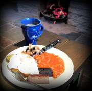 Full Irish Breakfast at The House on an Irish Hillside