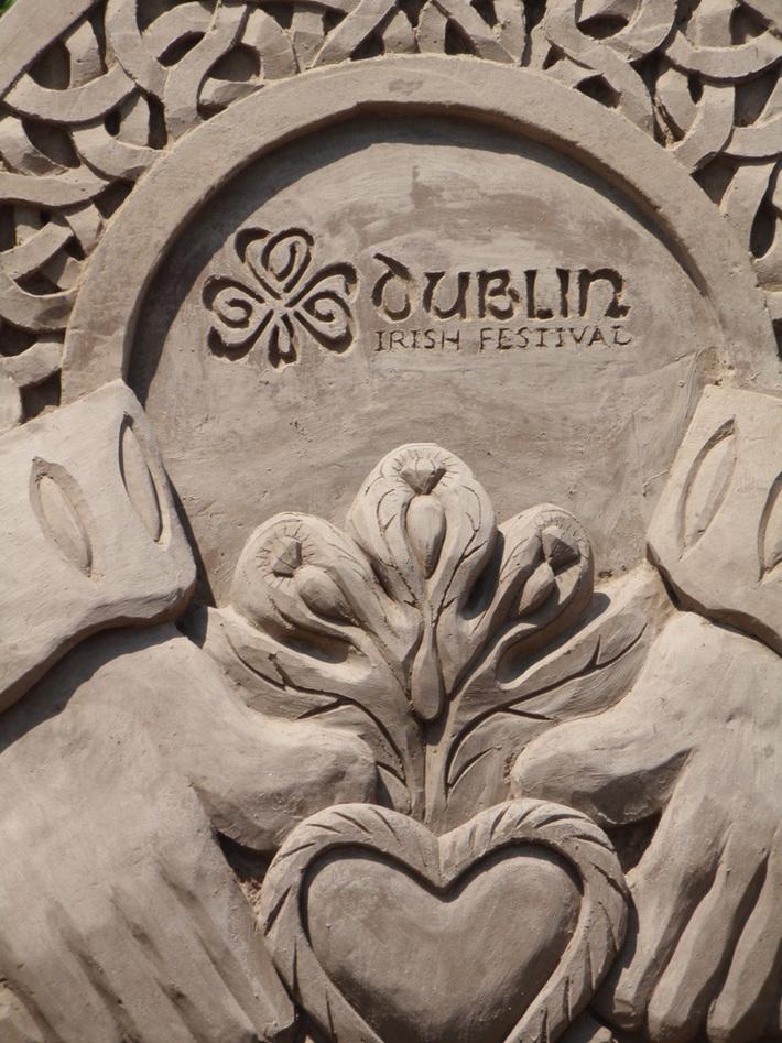 Dublin Ohio Irish Festival 2010  Sand sculpture