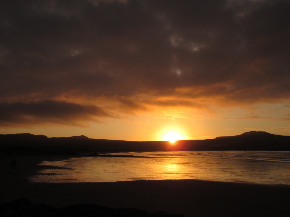 Sunset on Béal Bán beach at the westernmost end of the Dingle Peninsula