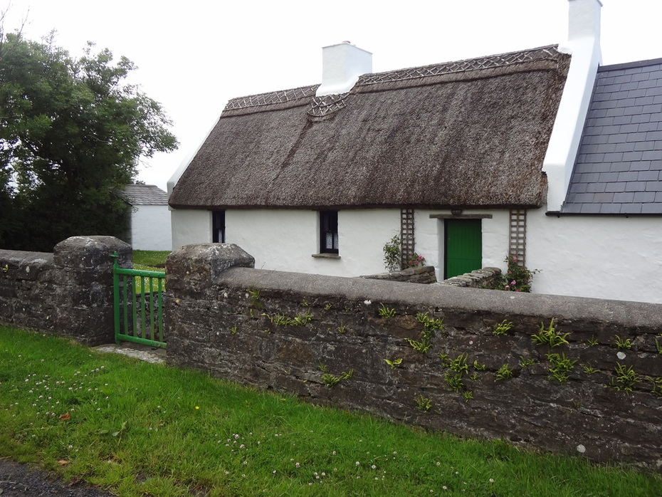 Thatched roof cottage near Ballycastle, Co. Mayo