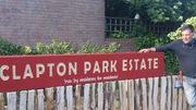 Clapton park sign/habitat fitted on Redwald Road