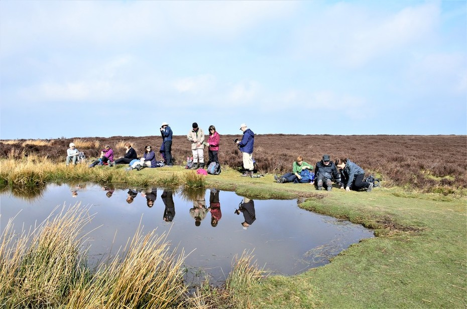 Lunch break on the Long Mynd, Shropshire, March 2019