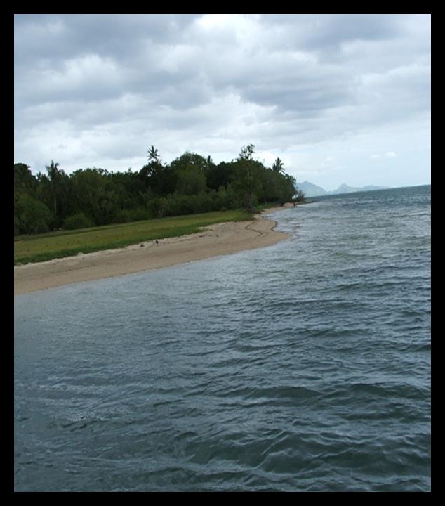 Beachfront at Naturi Land, Batiki Island in Lomaiviti group of Fiji