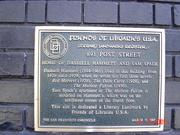 Plaque outside Hammett residence in San Francisco
