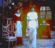 Lyn Echlin's Photos (Painted Paris Fashions from Video at Phila. Art Museum)