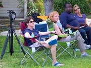 Partial Prelude crew & cast takin' a rest 'tween scenes