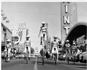 Unicycles on Fremont Street