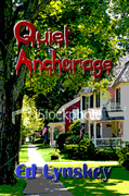 Cover art for my cozy murder mystery, Quiet Anchorage