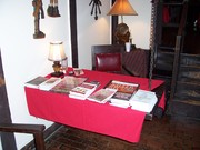 Signing table at Country Squire