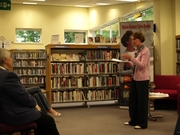 Pauline Rowson talking about her crime writing Bognor Regis Library 20 May 2014