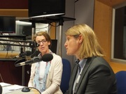 Pauline Rowson and DI Mandy Horsburghon the Katie Martin Show BBC Radio Solent August 2014