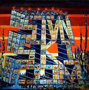 """#251 """"Stvnski.com"""" 36"""" x 36"""" Oil on canvas * IN PROGRESS *"""