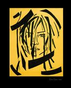 yellow self portrait