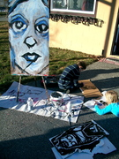live painting with kids before the event