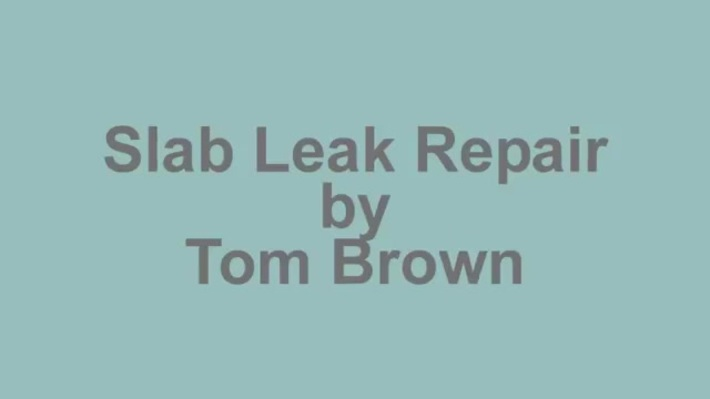 slab leak repair escondido